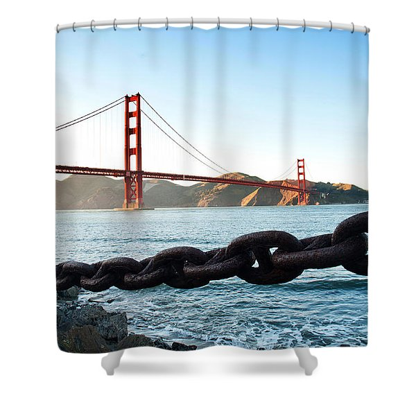 Golden Gate Bridge With Chain Shower Curtain