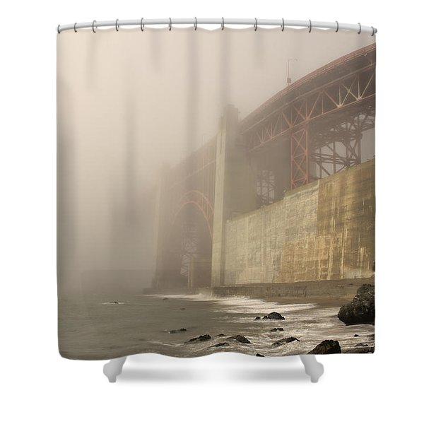 Golden Gate Superfog Shower Curtain