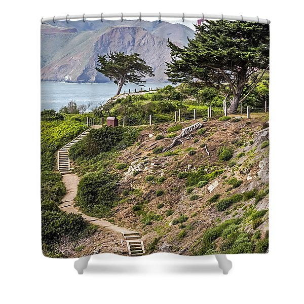 Golden Gate Trail Shower Curtain