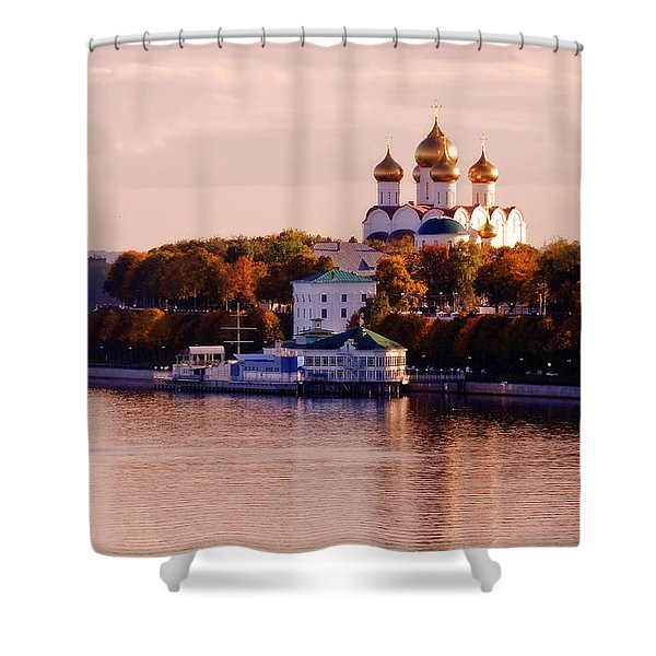 Golden Hour. Yaroslavl. Russia Shower Curtain