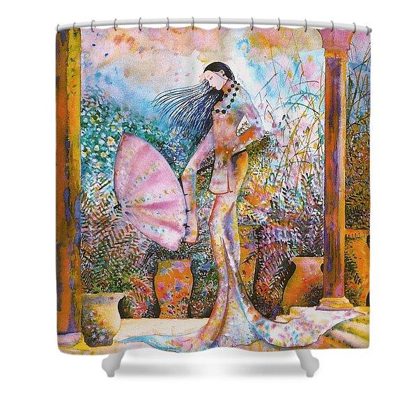 Golden Palace Shower Curtain