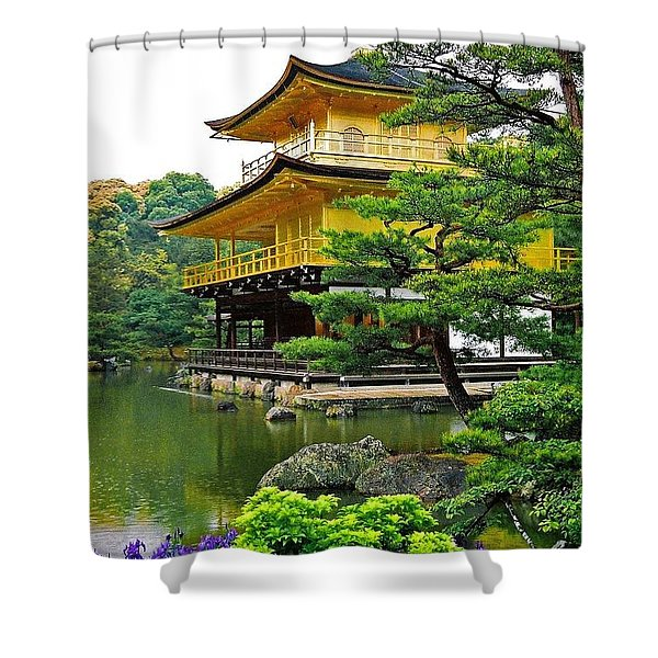 Golden Pavilion - Kyoto Shower Curtain