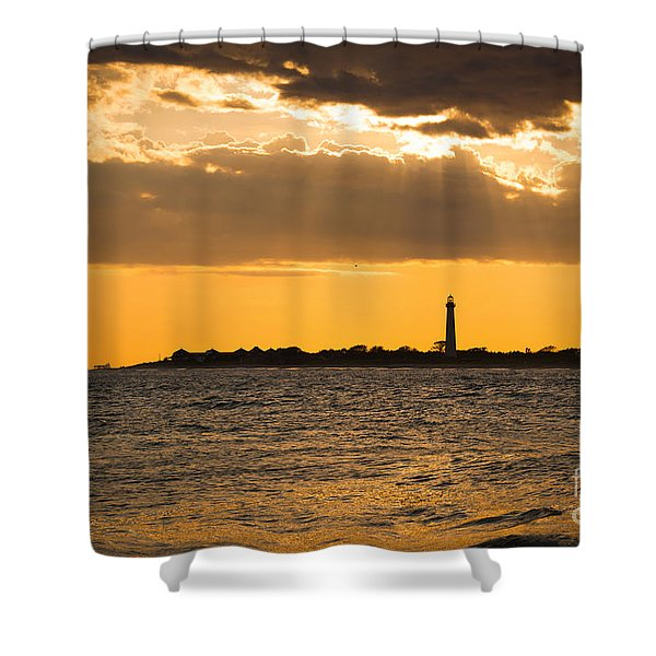Golden Rays At Cape May Shower Curtain
