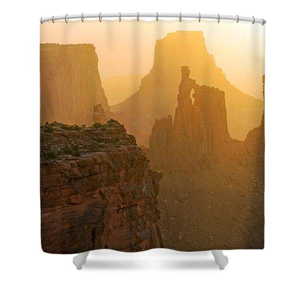 Golden Spires Shower Curtain