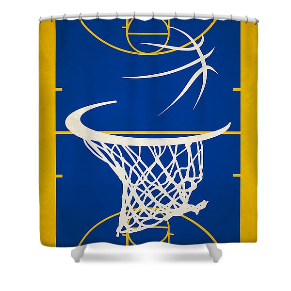 Golden State Warriors Court Shower Curtain