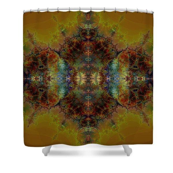 Golden Tapestry Shower Curtain