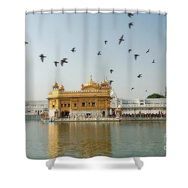 Golden Temple In Amritsar Shower Curtain