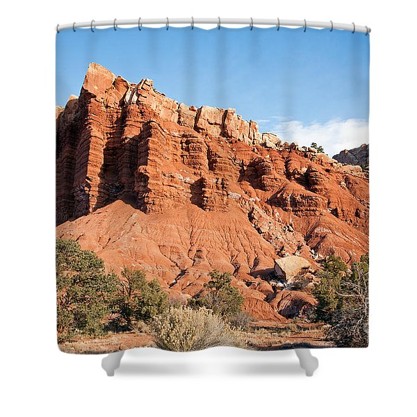 Golden Throne Capitol Reef National Park Shower Curtain