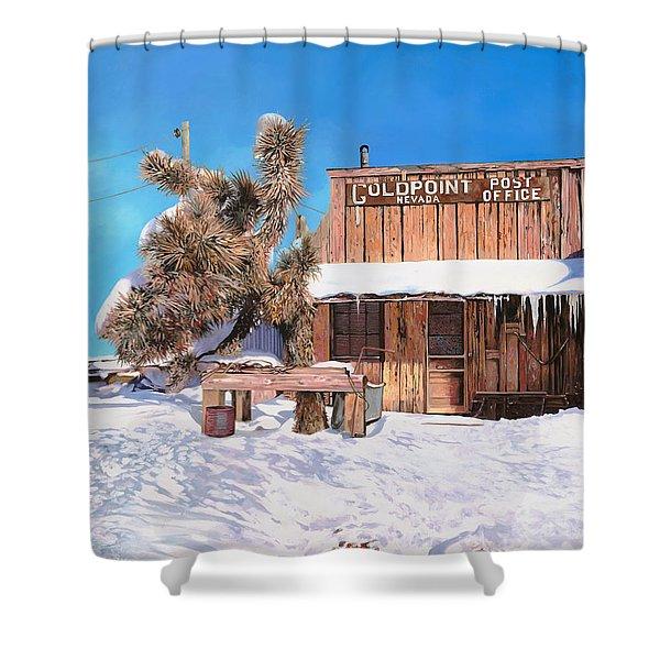 Goldpoint-nevada Shower Curtain