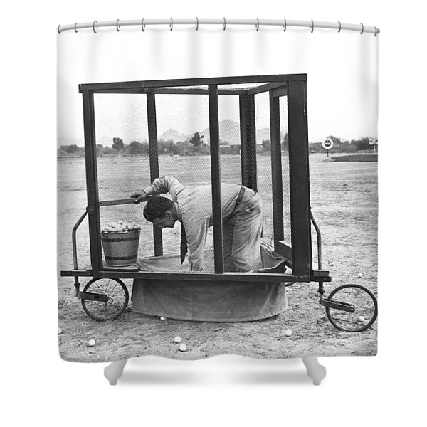 Golf Driving Range Safety Cart Shower Curtain