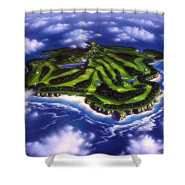Golfer's Paradise Shower Curtain