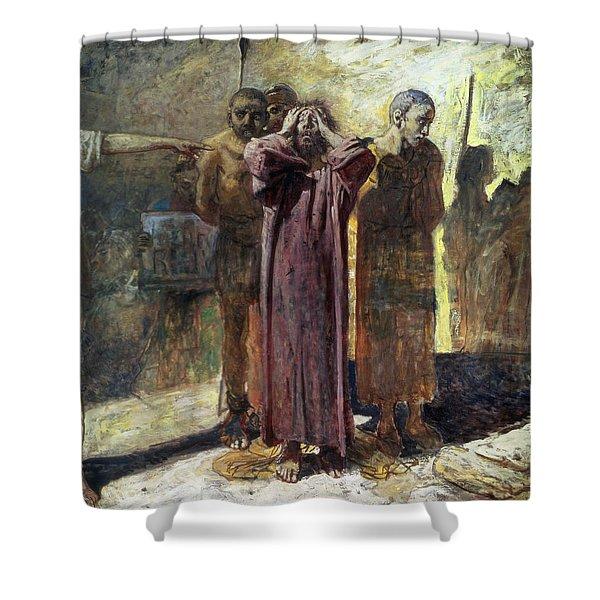 Golgotha, 1892-93 Oil On Canvas Shower Curtain
