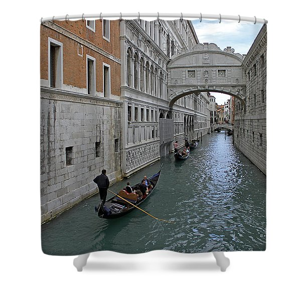 Gondolas Under Bridge Of Sighs Shower Curtain