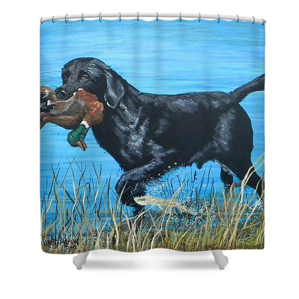 Good Dog Shower Curtain