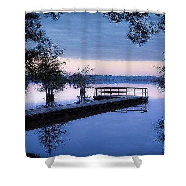 Good Morning For Fishing Shower Curtain