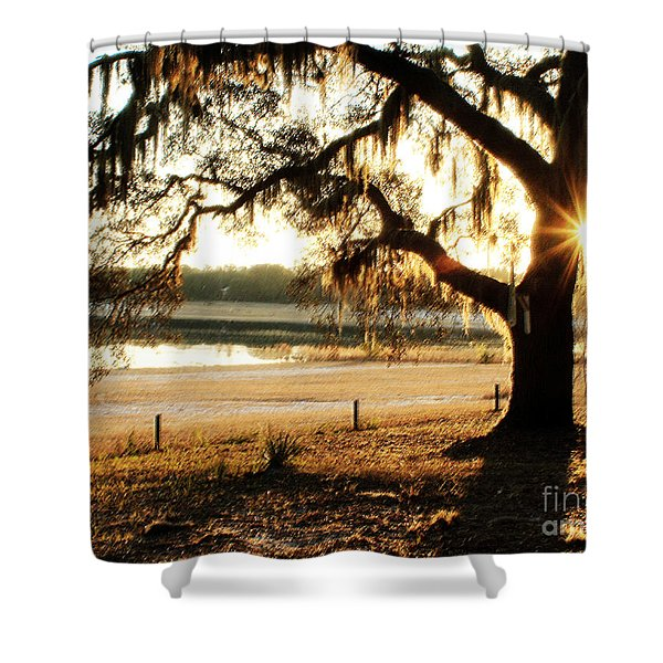 Good Morning Mossy Oak Shower Curtain
