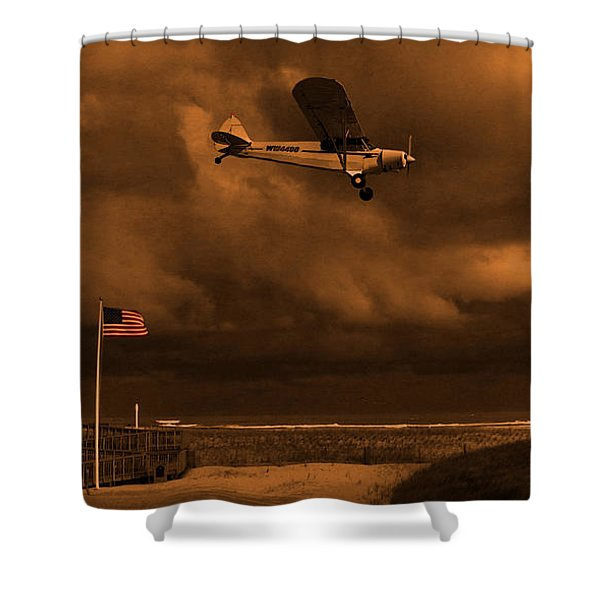 Good Night Wildwood Beach Shower Curtain