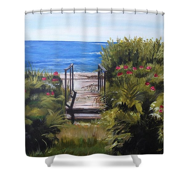 Goose Rocks Beach Costal Village In The Town Of Kennebunkport Maine Shower Curtain