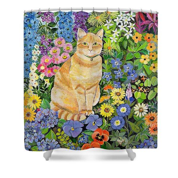 Gordon S Cat Shower Curtain