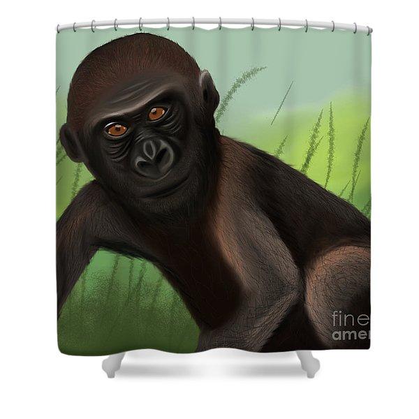 Gorilla Greatness Shower Curtain
