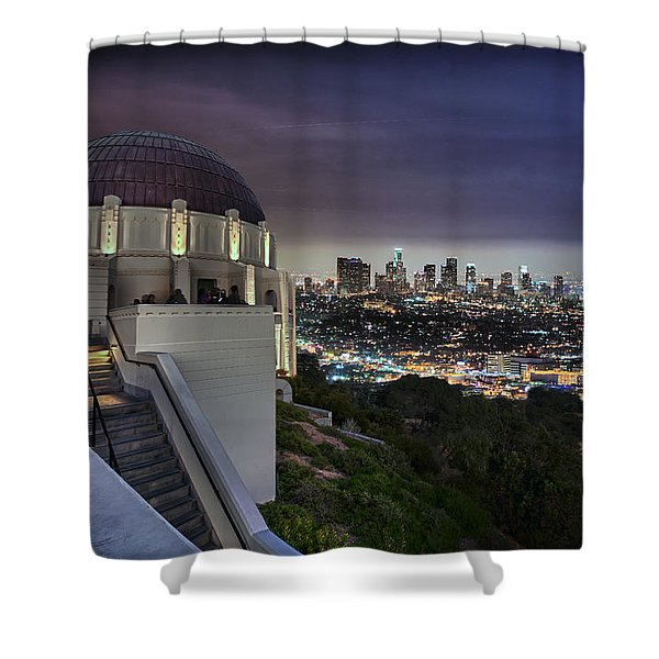 Gotham Griffith Observatory Shower Curtain