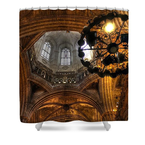 Gothic Cathedral Barcelona Shower Curtain