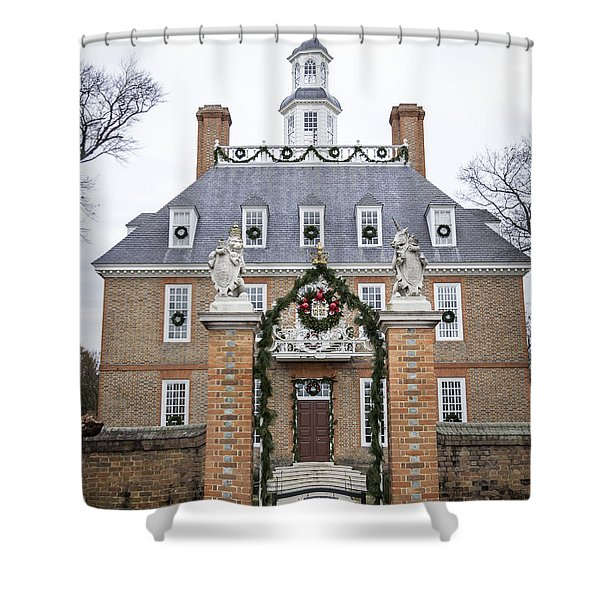 Governors Palace With Gate Shower Curtain