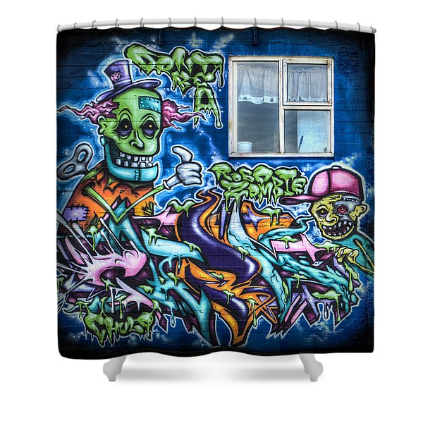 Graffiti City Shower Curtain