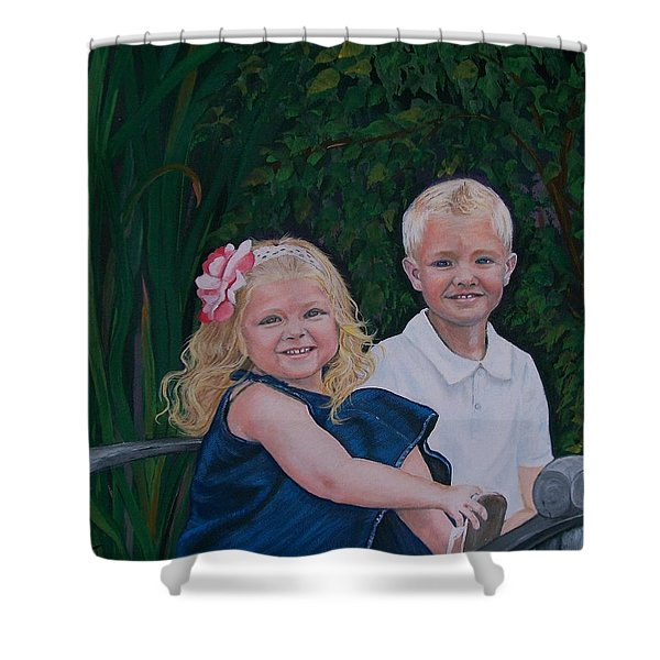 Grampa And Gramma's Joy  Shower Curtain