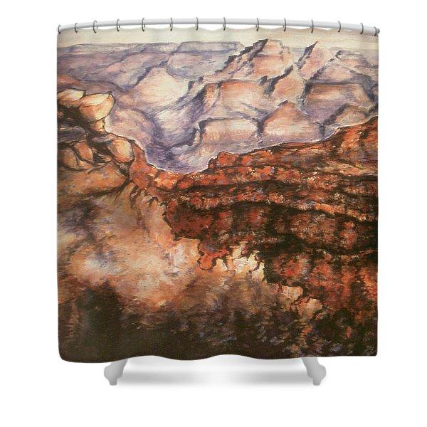 Grand Canyon Arizona - Landscape Art Painting Shower Curtain