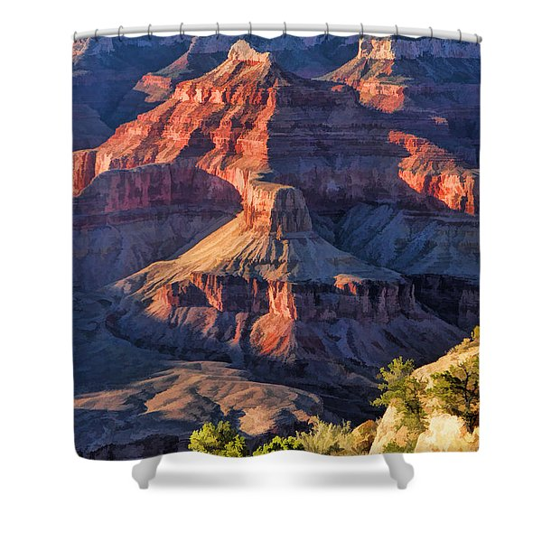 Grand Canyon National Park Sunset Ridge Shower Curtain