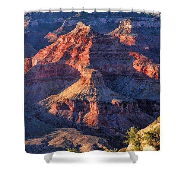 Grand Canyon National Park Sunset Ridge Shower Curtain