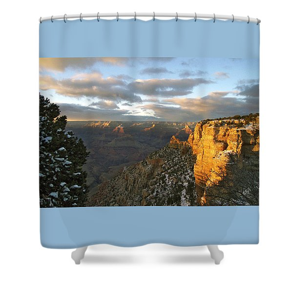 Grand Canyon. Winter Sunset Shower Curtain