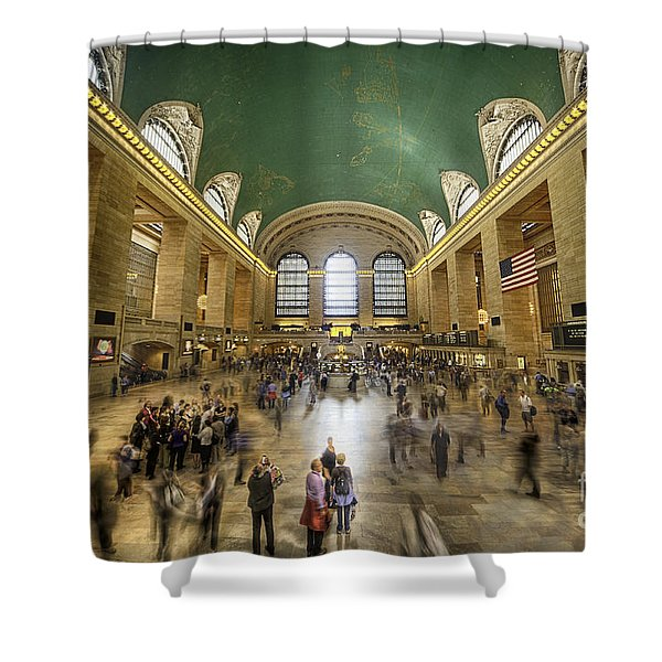 Grand Central Rush Shower Curtain
