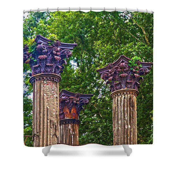 Grand Decay Shower Curtain