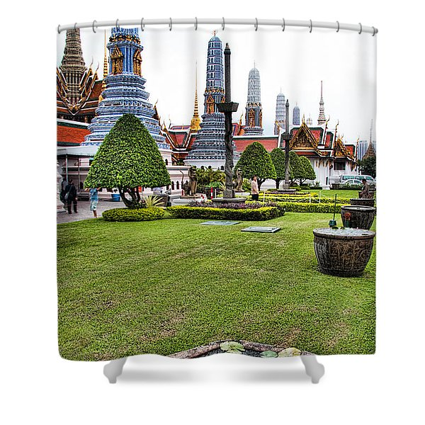 Grand Palace Temple In Bangkok 1 Shower Curtain