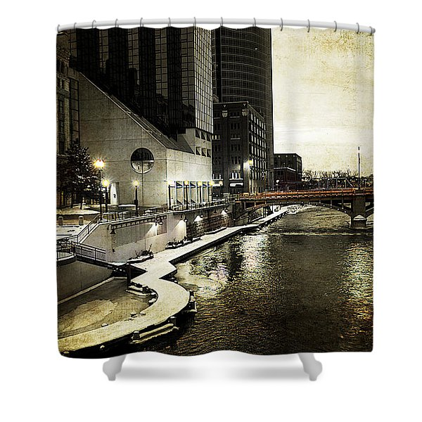 Grand Rapids Grand River Shower Curtain