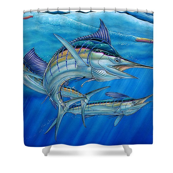 Grand Slam And Lure. Shower Curtain