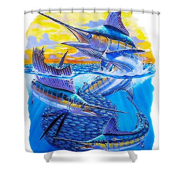 Grand Slam Baitball Shower Curtain