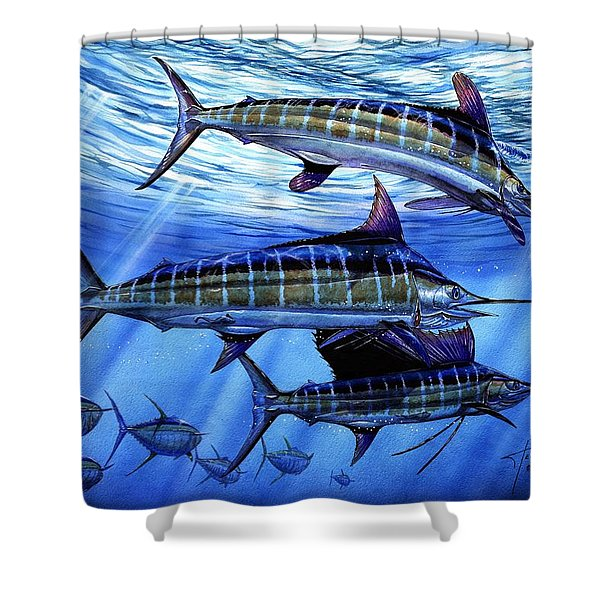 Grand Slam Lure And Tuna Shower Curtain