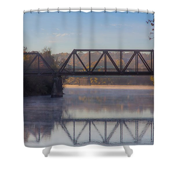 Grand Trunk Railroad Bridge Shower Curtain