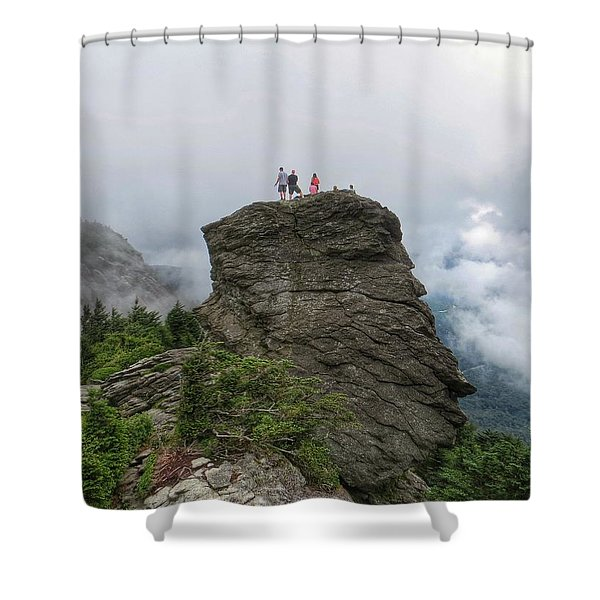 Grandfather Mountain Hikers Shower Curtain