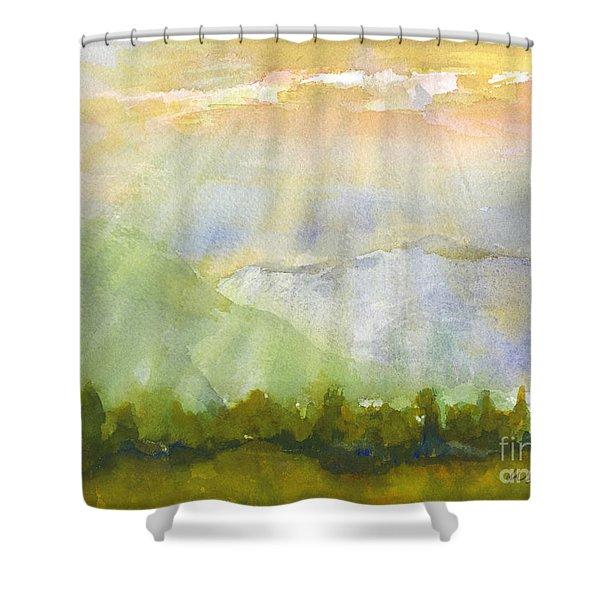 Grandma Cohen Rays Shower Curtain