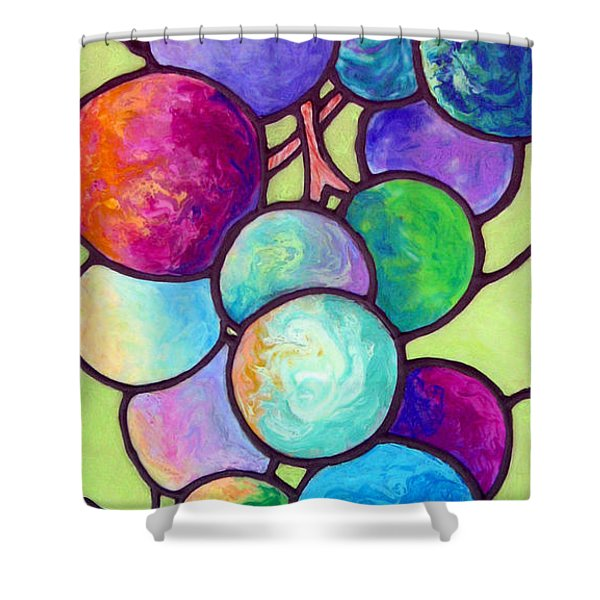 Shower Curtain featuring the painting Grape De Chine by Sandi Whetzel