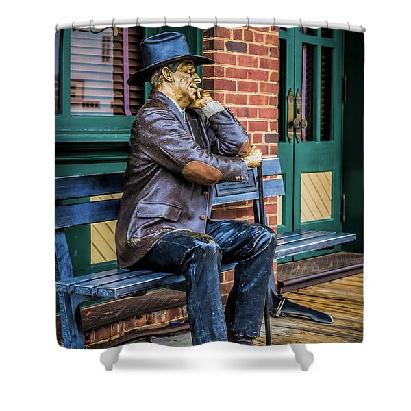 Grapevine Cowboy Shower Curtain