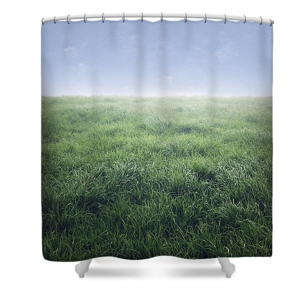 Grass And Sky  Shower Curtain