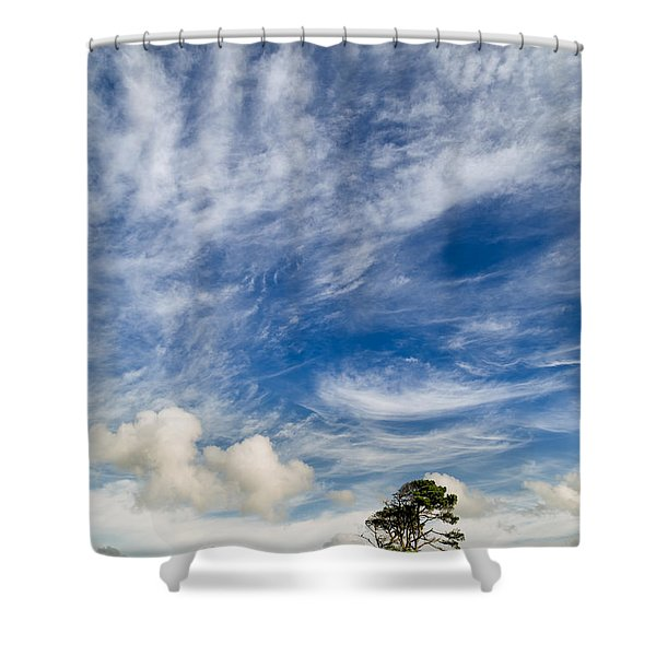 Grass Is Greener Beyond The Hill Shower Curtain