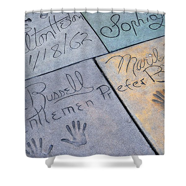 Grauman's Chinese Theatre Marilyn Monroe Shower Curtain