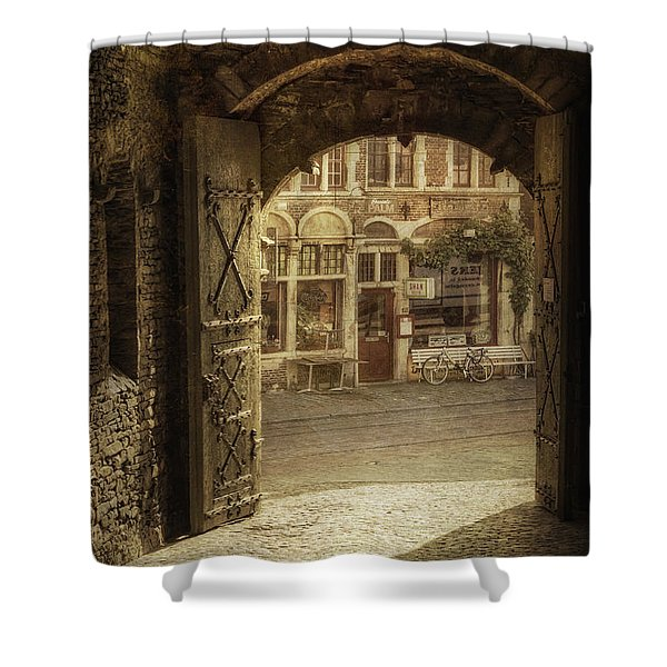 Gravensteen Doorway Shower Curtain