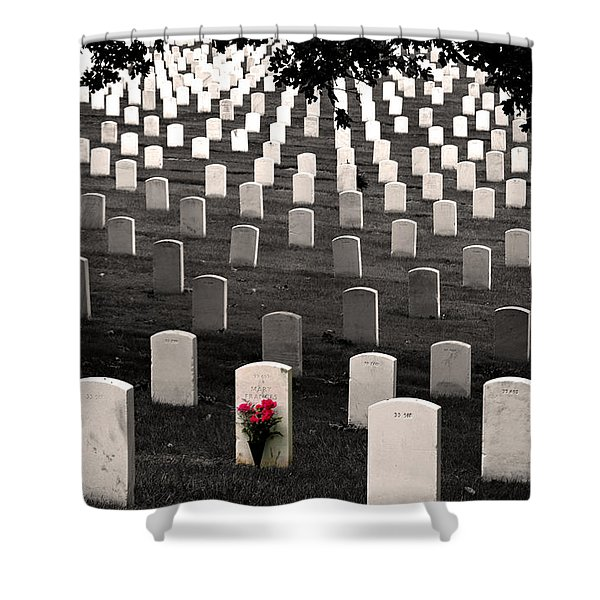 Graves At Arlington National Cemetery Shower Curtain